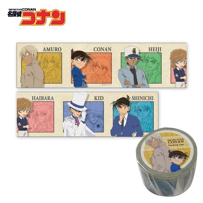 名偵探柯南 紙膠帶 30mm寬 手帳貼 日本製 柯南