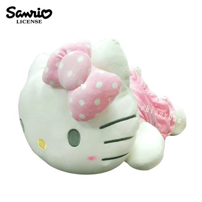 凱蒂貓 趴姿造型 絨毛玩偶 22吋 娃娃 玩偶 擺飾 抱枕 靠枕 Hello Kitty 三麗鷗