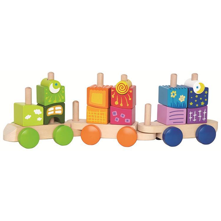 【德國Hape愛傑卡】幻想堆疊積木列車