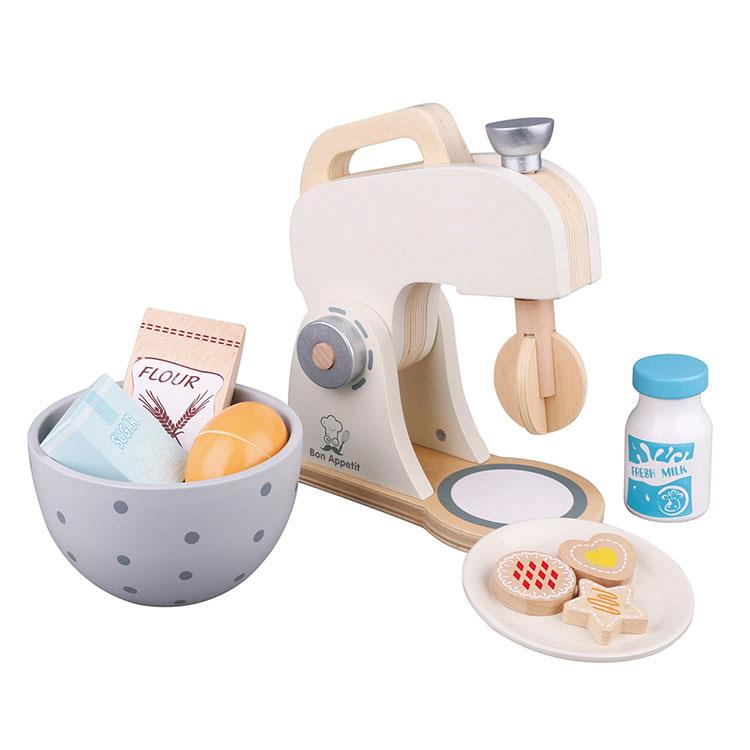 《 荷蘭 New Classic Toys 》木製家家酒攪拌機-優雅白