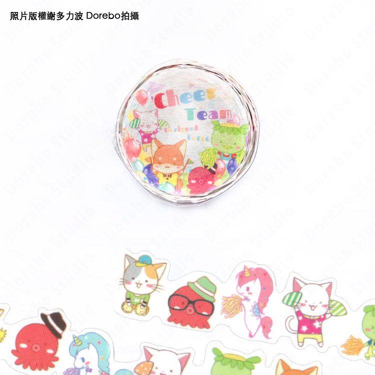 雞蛋原創-柴犬/貓咪/河童/獨角獸/EGG拉拉隊花邊軋型紙膠帶(單卷)