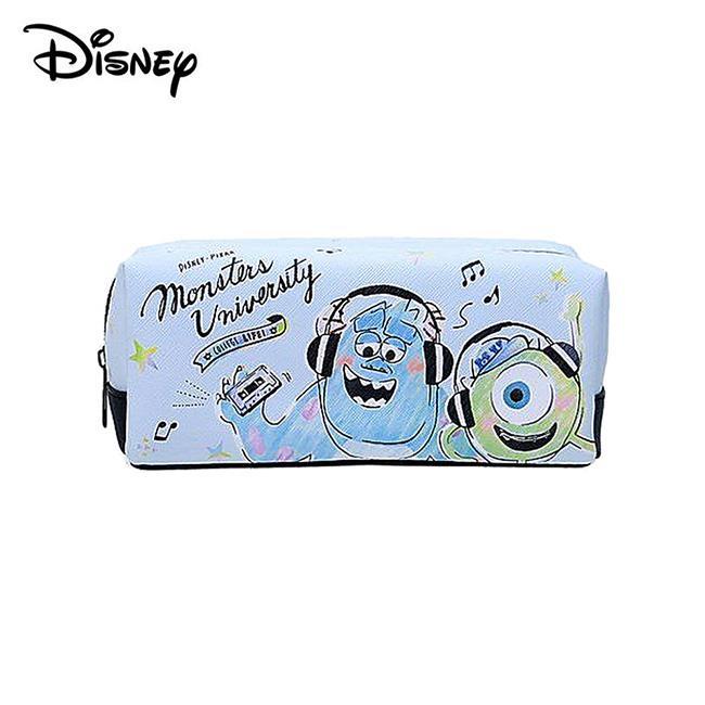 怪獸大學 皮革 筆袋 鉛筆盒 化妝包 收納包 毛怪 大眼仔 皮克斯 迪士尼 Disney