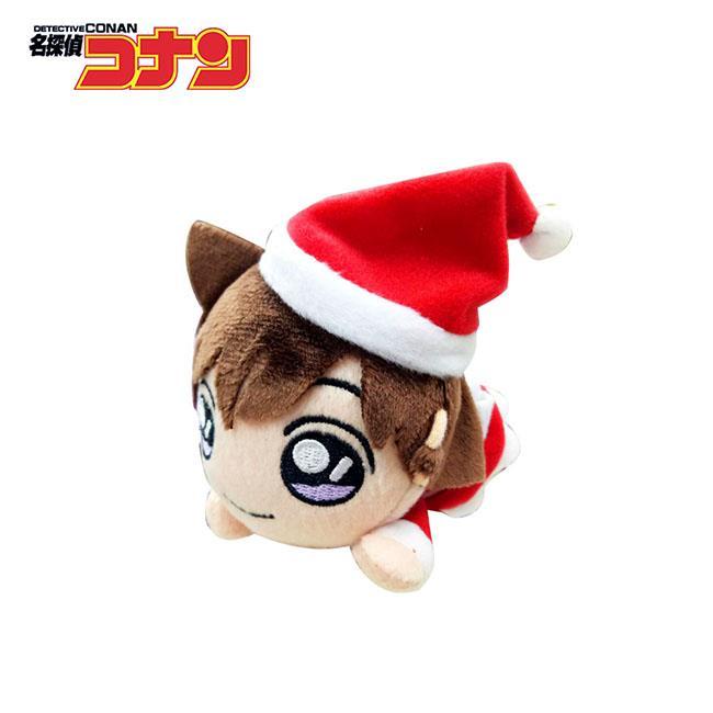 名偵探柯南 趴姿造型 玩偶吊飾 聖誕節裝扮 絨毛玩偶 吊飾 SEGA