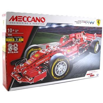 【MECCANO】(認證S.T.E.M.) 金屬組裝模型-法拉利 F1賽車組