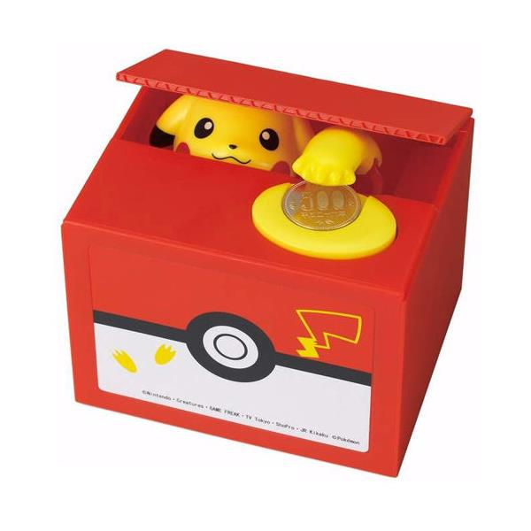 皮卡丘 偷錢箱 存錢筒 儲金箱 小費箱 神奇寶貝 PIKACHU 寶可夢