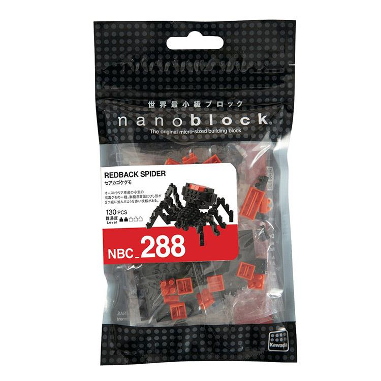 《Nano Block 迷你積木》NBC - 288 紅背蜘蛛