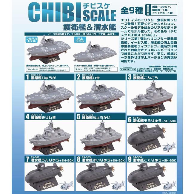 整盒10入 CHIBI SCALE 護衛艦 潛水艦 盒玩 模型 擺飾 海洋堂 F-toys