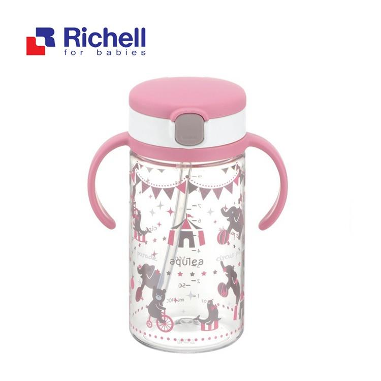 【Richell 利其爾】第四代LC 戶外水杯 320ml - 粉紅派對