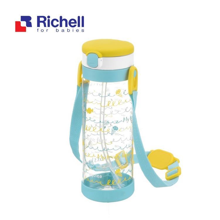 【Richell 利其爾】第四代LC 450ml 吸管式冷水壺 - 棒棒糖 【附背帶】
