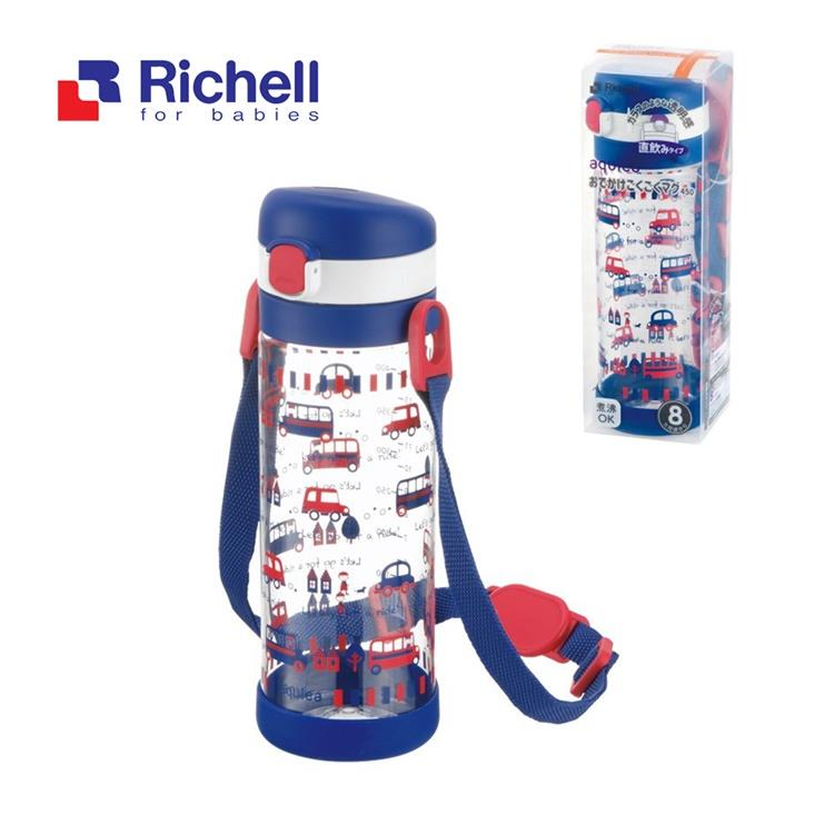 【Richell 利其爾】第四代LC 450ml 直飲式冷水壺 - 貝克街【附背帶】