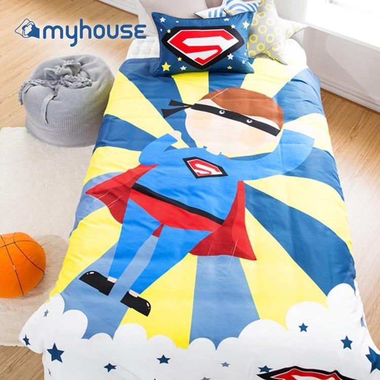 【虎兒寶 】myhouse 韓國超細纖維兩件式四季枕被組  - 我是超人I am Superman!