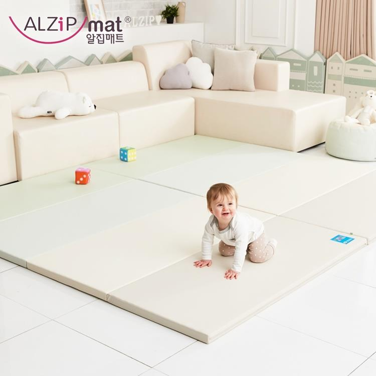 【ALZiPmat】韓國手工製 時尚經典四折折疊墊 - 經典時尚米