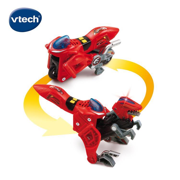 【英國 Vtech】聲光變形恐龍車系列 - 迅猛龍 阿庫納