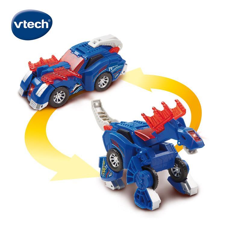 【英國 Vtech】聲光變形恐龍車系列 - 阿馬加龍 艾伯納