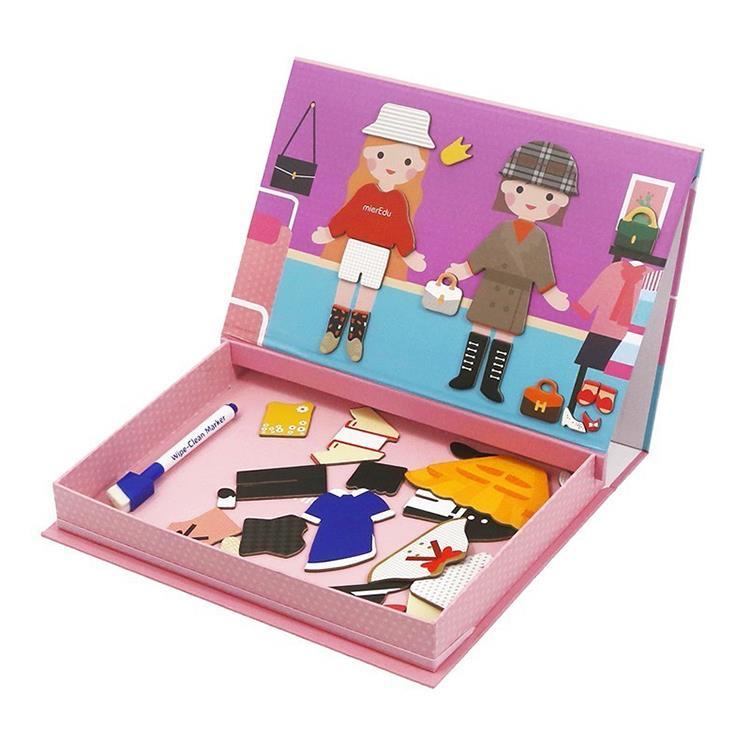 mierEdu~磁性創意塗鴉拼圖盒~女孩變裝