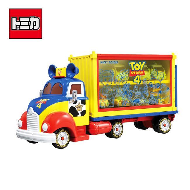 玩具總動員4 收納卡車 玩具 收納小車 小車展示盒 多美小汽車 迪士尼 Disney Motors