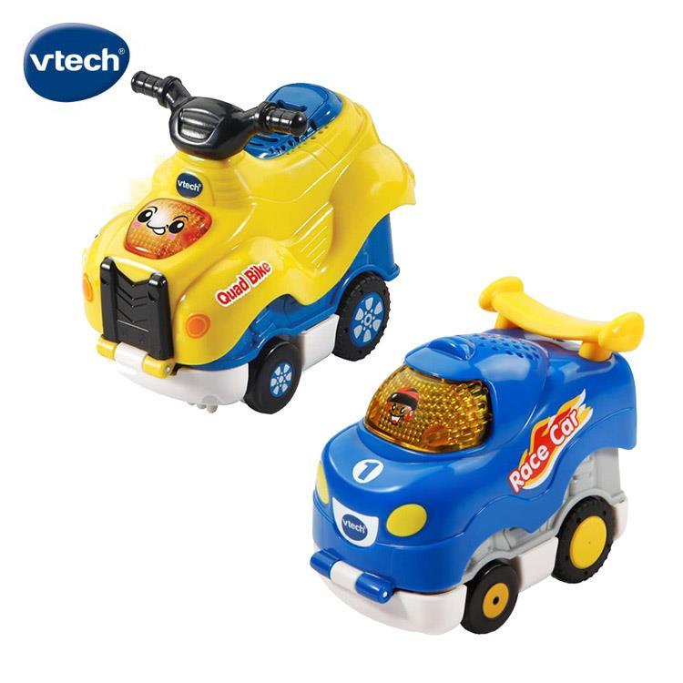 【英國 Vtech】嘟嘟聲光迴力衝鋒車 - 酷炫賽車 + 酷炫越野車