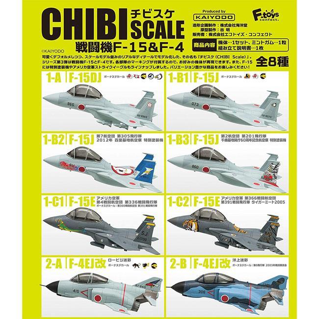 整盒10入 CHIBI SCALE 戰鬥機 F-15 F-4 盒玩 模型 擺飾 海洋堂 F-toys