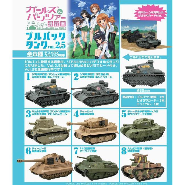 整盒10入 少女與戰車最終章 迴力戰車 Vol.2.5 盒玩 模型 迴力車 海洋堂 F-toys