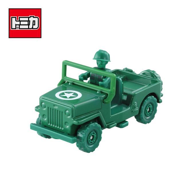 TOMICA 騎乘系列 TS-07 綠色小士兵 x 軍事車 玩具總動員4 玩具車 多美小汽車