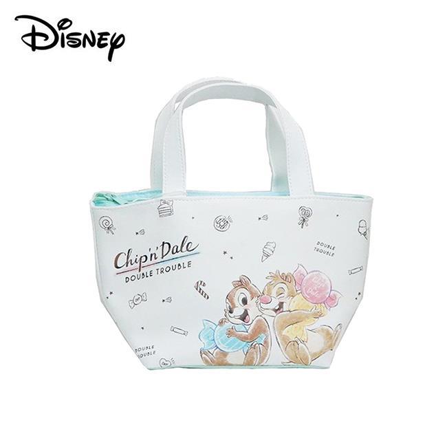 奇奇蒂蒂 皮革 保冷袋 手提袋 便當袋 迪士尼 Disney