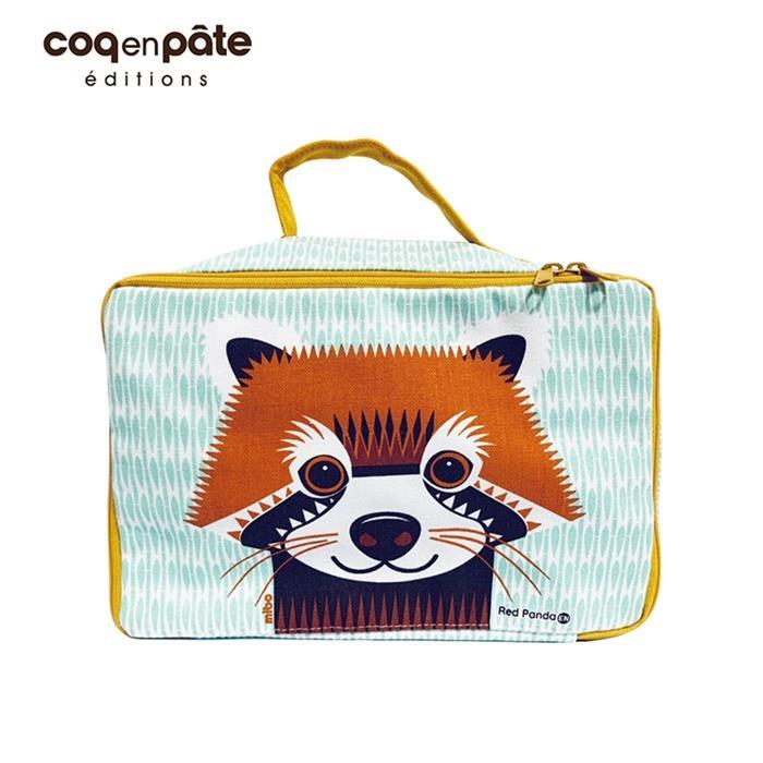 【虎兒寶】COQENPATE 法國有機棉布包 方方兒拎出門 - 小熊貓