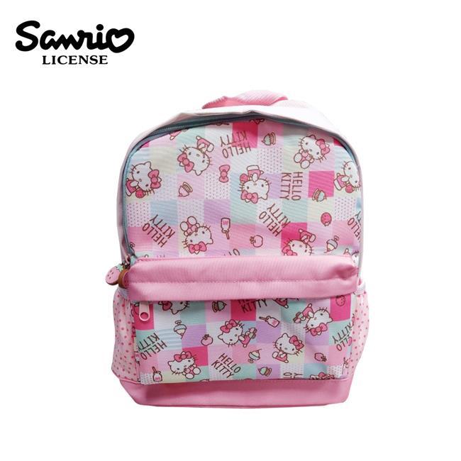 凱蒂貓 方格系列 兒童背包 背包 後背包 書包 Hello Kitty 三麗鷗 Sanrio