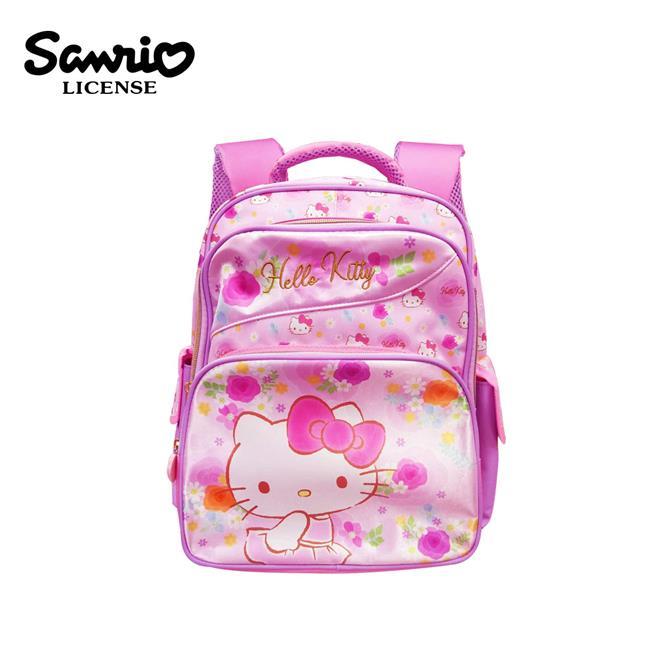 凱蒂貓 玫瑰花系列 雙層 兒童背包 背包 後背包 書包 Hello Kitty 三麗鷗 Sanrio