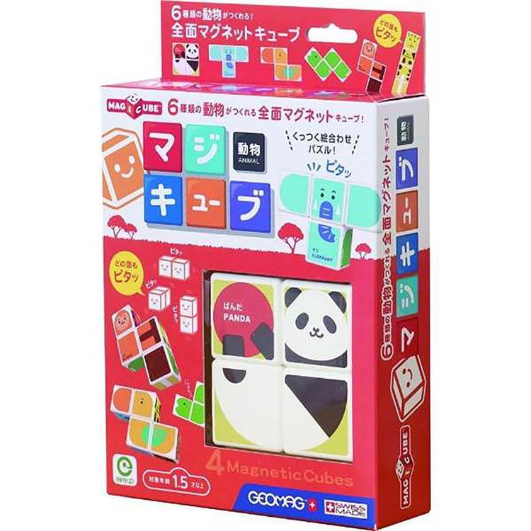 《 日本 EyeUp 》六面磁力拼圖 - 動物