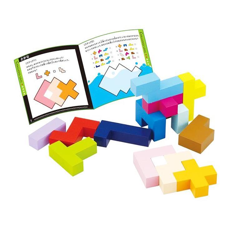 日本《 Ed-Inter 》益智桌遊系列 - 益智方塊拼圖