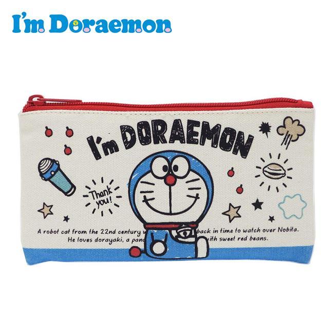 哆啦A夢 帆布 扁筆袋 鉛筆盒 筆袋 收納包 小叮噹 DORAEMON 三麗鷗