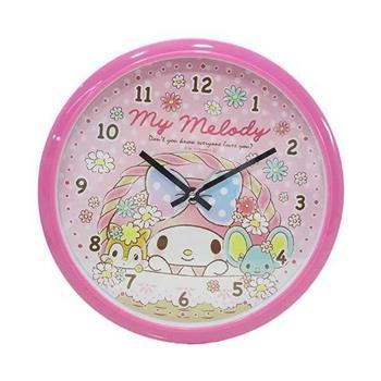 【大國屋】My Melody美樂蒂靜音壁掛時鐘