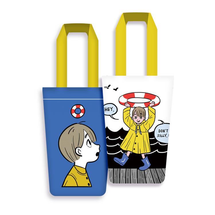黃色小孩飲料袋