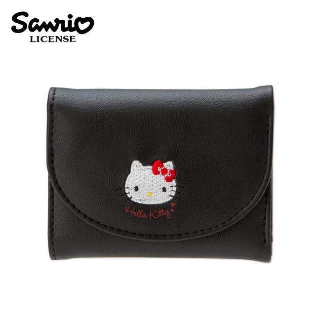 凱蒂貓 皮質 三折短夾 皮夾 錢包 Hello Kitty 三麗鷗 Sanrio