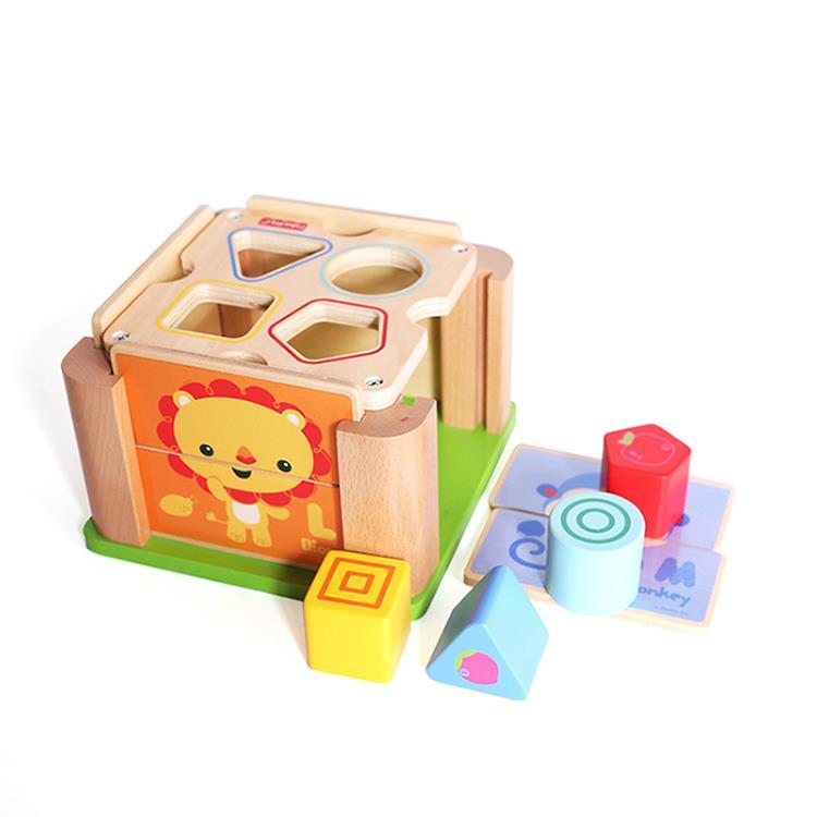 費雪動物形狀積木學習盒