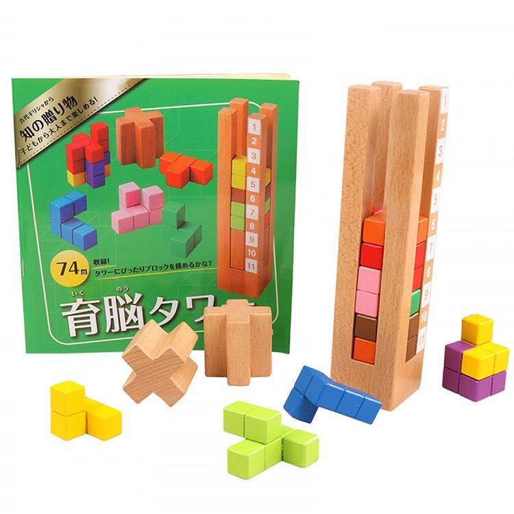 《 日本 Ed-Inter 》益智桌遊系列 - 益智積木塔
