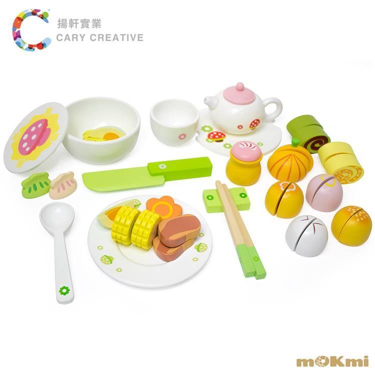 【mOKmi x umu】木可米 木製家家酒 - 茶點玩具