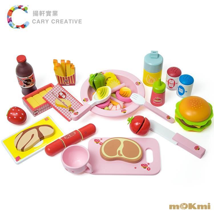 【mOKmi x umu】木可米 木製家家酒 - 漢堡肉排玩具