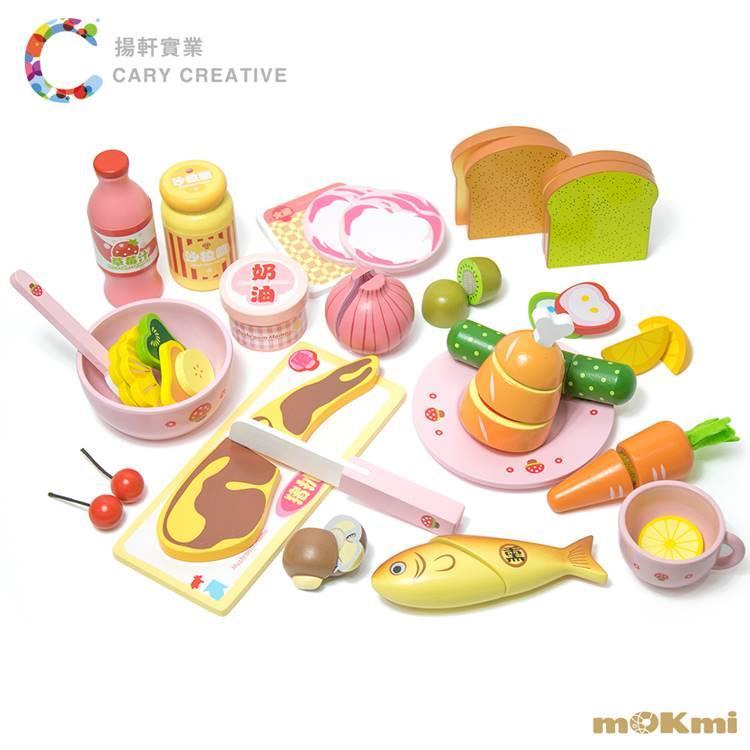【mOKmi x umu】木可米 木製家家酒 - 豐富晚餐玩具