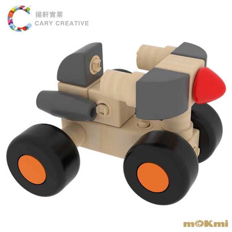 【mOKmi x umu】木可米 360°扣木製積木 - 車糸列