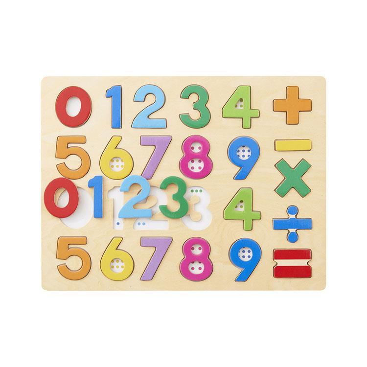 《 日本 Ed-Inter 》木玩系列 - 木質拼圖 123
