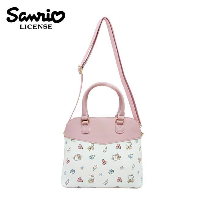 凱蒂貓 皮革 貝殼包 斜背包 側背包 肩背包 手提包 Hello Kitty 三麗鷗 Sanrio