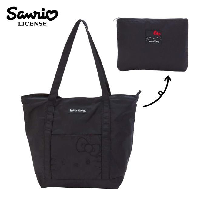 凱蒂貓 摺疊 肩背包 手提袋 購物袋 Hello Kitty 三麗鷗 Sanrio