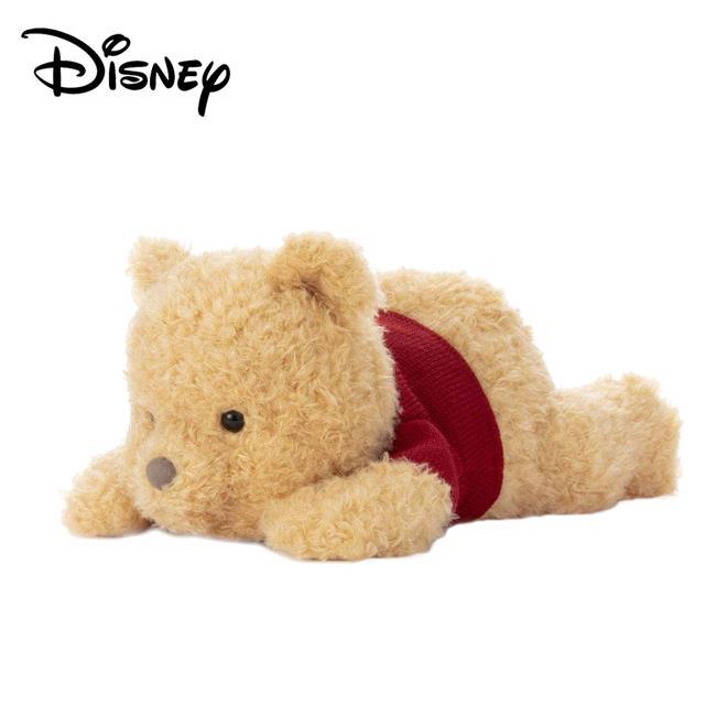 小熊維尼 電影版 絨毛玩偶 趴姿造型 34cm 娃娃 Winnie 摯友維尼 迪士尼 Disney