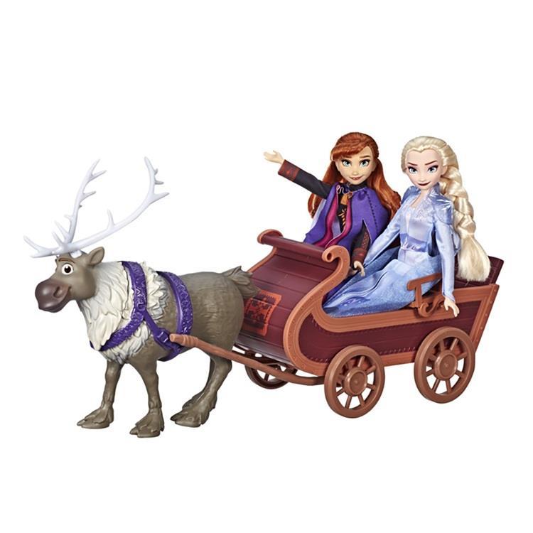 《 Disney 迪士尼》冰雪奇緣2公主與小斯/雪橇組