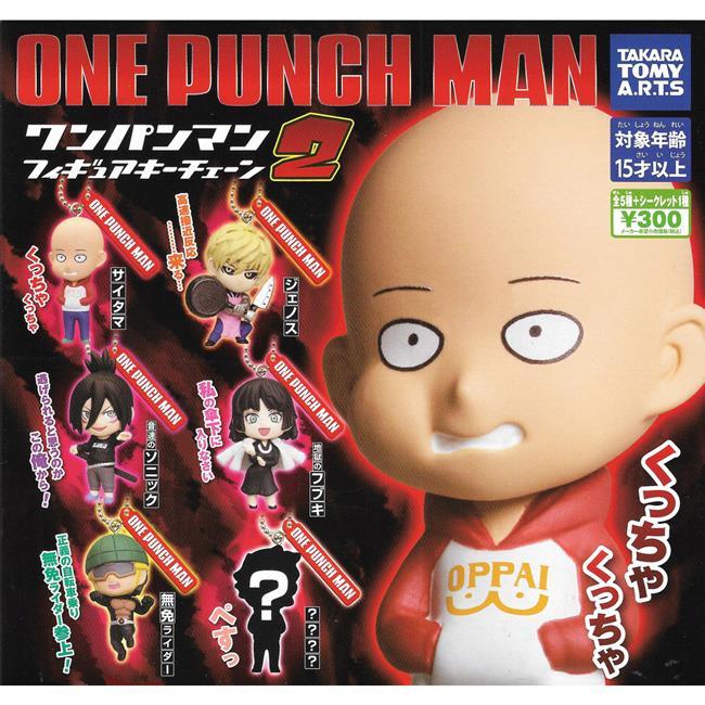 小全套5款 一拳超人 人物吊飾 P2 扭蛋 轉蛋 ONE PUNCH MAN TAKARA TOMY