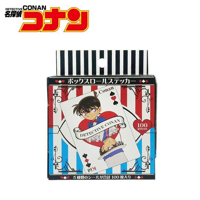名偵探柯南 盒裝貼紙捲 日本製 貼紙 手帳貼 卷軸貼紙 怪盜基德