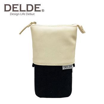 DELDE 皮革系列 帆布 伸縮筆袋 筆筒 鉛筆盒 收納包 sun-star