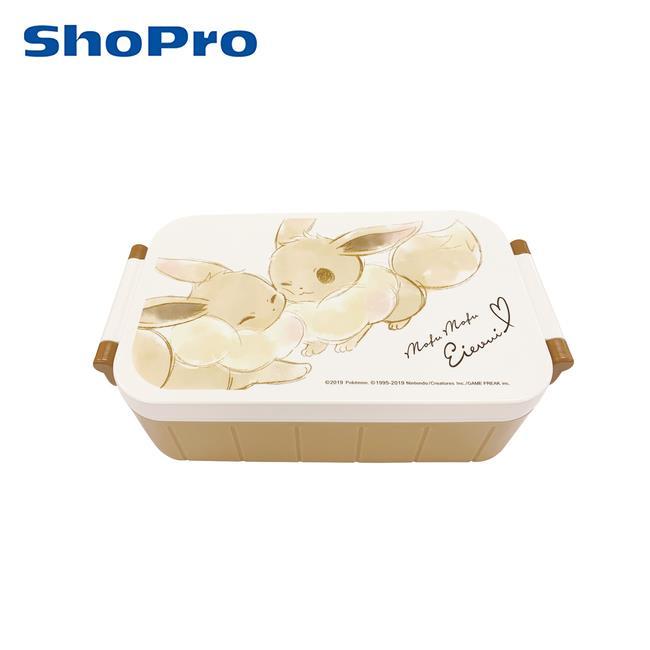 伊布 單層便當盒 附筷子 520ml 分格便當盒 可微波飯盒 寶可夢 神奇寶貝 Skater