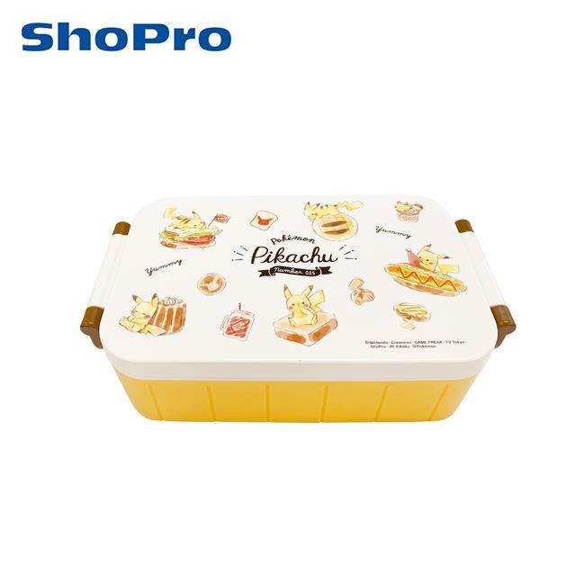 皮卡丘 單層便當盒 附筷子 520ml 分格便當盒 可微波飯盒 寶可夢 神奇寶貝 Skater
